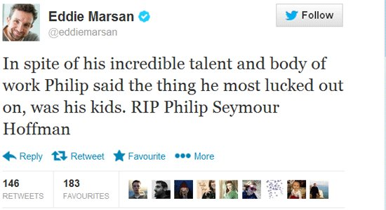 Eddie Marsan tweet