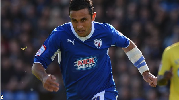 Chesterfield striker Jack Lester