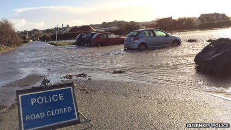 Cobo carpark flooded with cars in the water