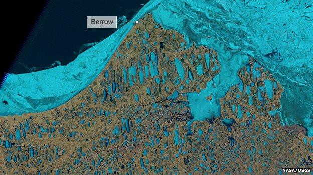 Alaska Arctice ice