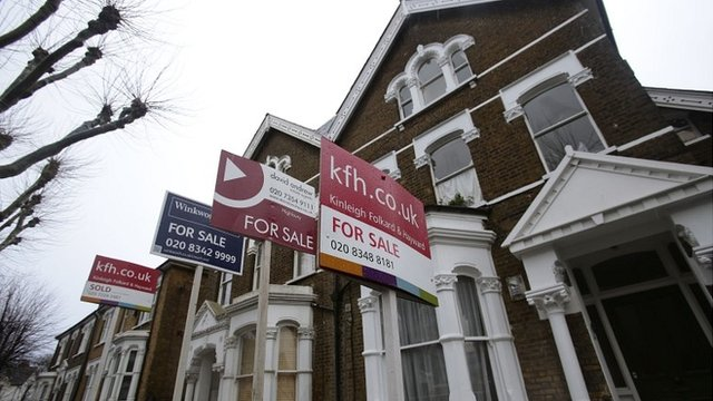 Signs outside London houses