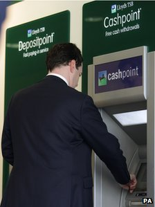George Osborne at cash point