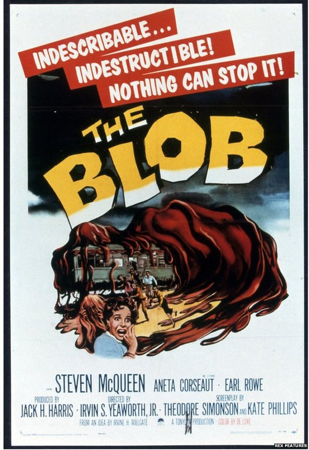 Promotional poster for the film The Blob