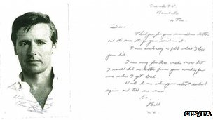 William Roache letter