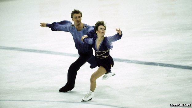 Torvill and Dean skating, Sarajevo 1984