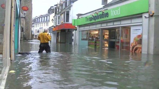 Flooding in Looe
