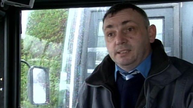 Bus driver Jon Ashman