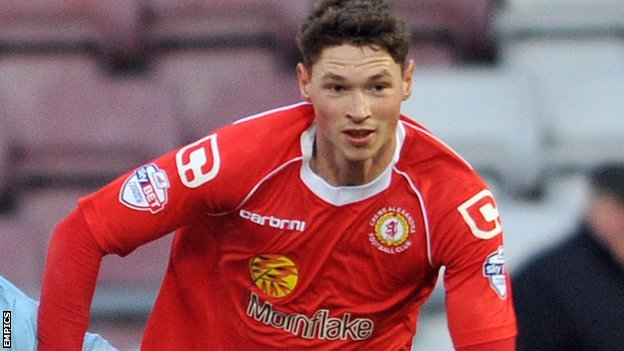 Crewe Alexandra's on-loan Manchester City teenager George Evans