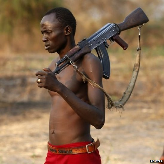 Rebel fighter in South Sudan