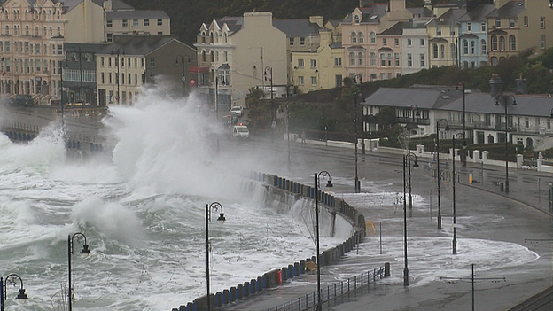 Clean Up Begins After Latest Isle Of Man Storm Surge Bbc News