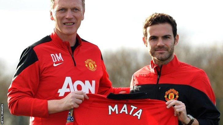 Juan Mata at Manchester United