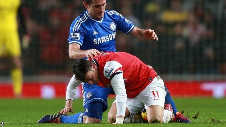 Frank Lampard and Mesut Ozil