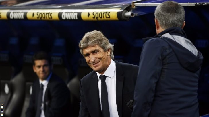 Manuel Pellegrini and Jose Mourinho