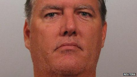 Undated booking photo of Michael Dunn taken in Jacksonville, Florida
