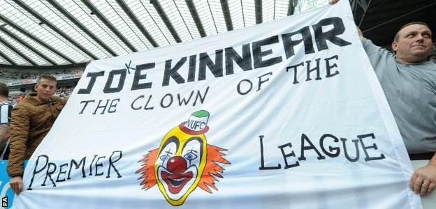 Joe Kinnear oppostion among Newcastle fans