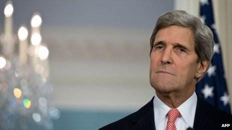 US Secretary of State John Kerry appeared in Washington on 18 November 2013