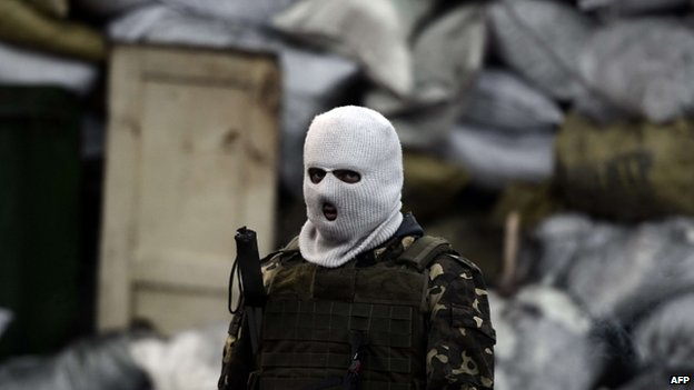 Masked protester in Kiev. 3 Feb 2014