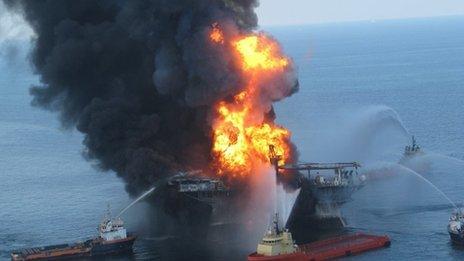 rig explosion