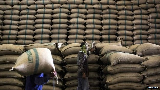 File photo: Rice stockpile in Thailand