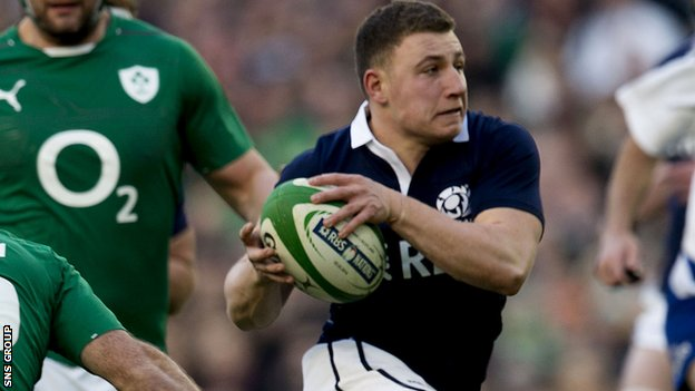 Scotland fly-half Duncan Weir