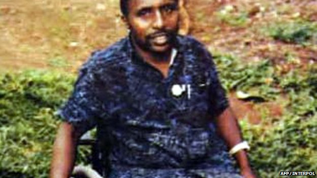 An undated picture released by Interpol shows Pascal Simbikangwa, a former Rwandan army captain arrested on the French island of Mayotte in 2008.