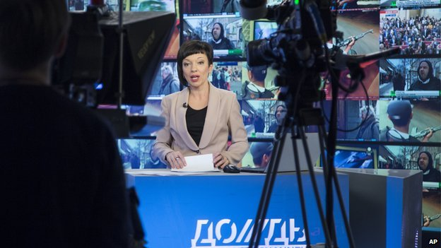 Dozhd TV broadcast - file pic