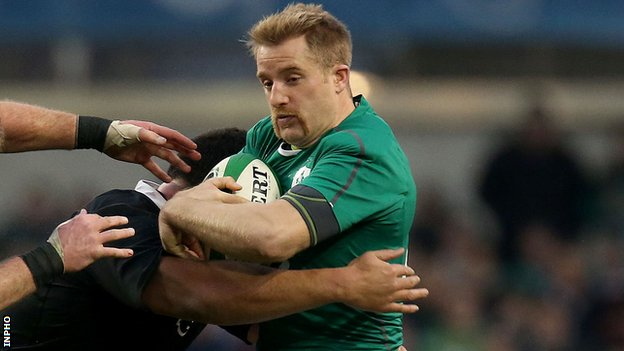 Luke Fitzgerald in action against the All Blacks in November