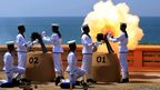 A gun salute in Colombo