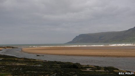 The low tide at Red Bay, County Antrim