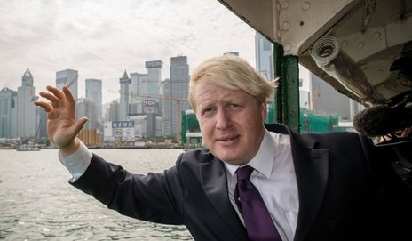 Boris Johnson during a recent trip to Hong Kong