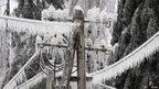 A frozen pylon