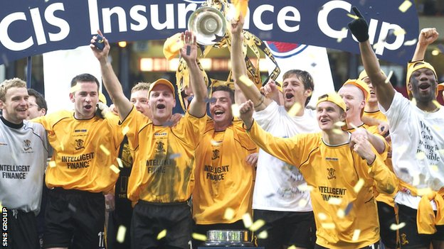 Livingston won the League Cup in 2004