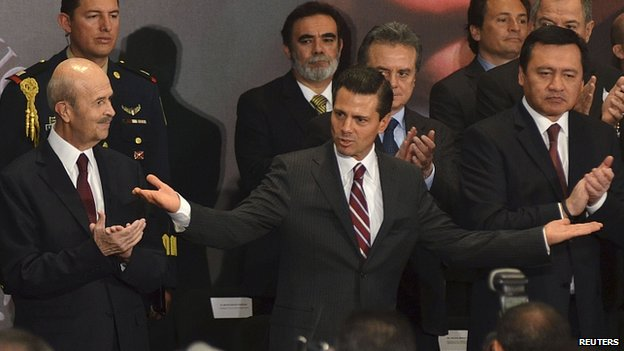 President Enrique Pena Nieto unveils his initiative for Michoacan. 4 Feb 2014