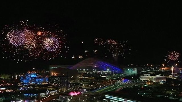 Fireworks in Sochi