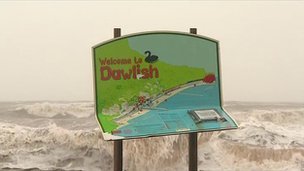 Welcome to Dawlish sign