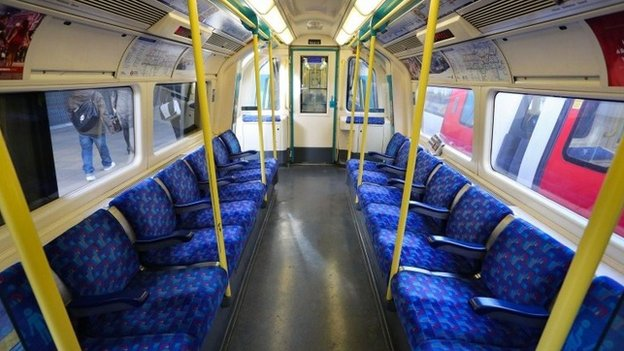 Empty Tube train