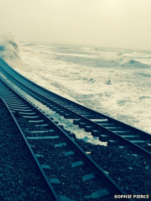 Dawlish rail tracks