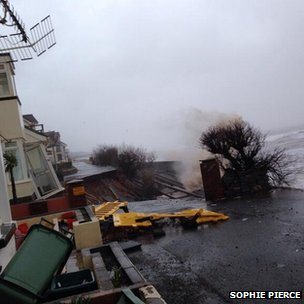 Broken road in Dawlish
