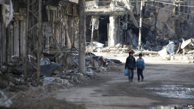 Children in Deir al-Zour, Syria (24 January 2014)