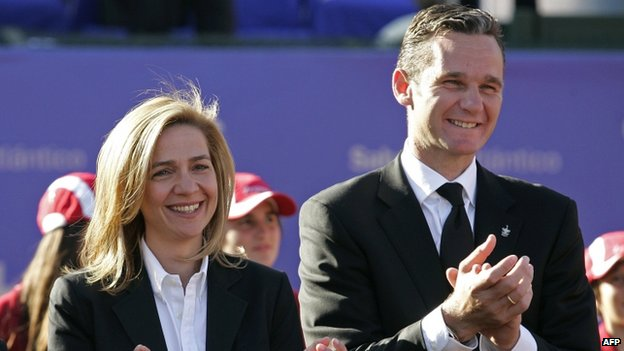 Princess Cristina with Inaki Urdangarin in 2008