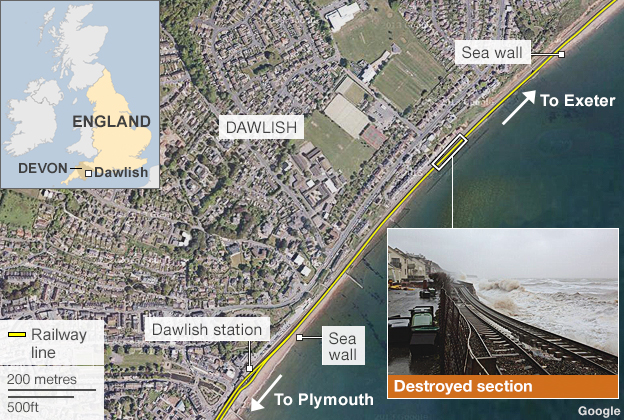 Map: Dawlish