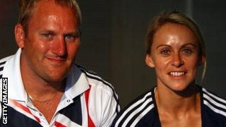 Trevor Painter (left) with his wife Jenny Meadows