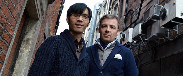 Producer Baldwin Li (left) and director Mark Gill