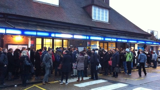 Queues outside Stanmore station