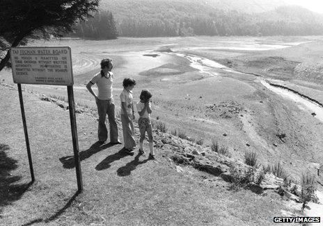 Taf Fechan reservoir in South Wales