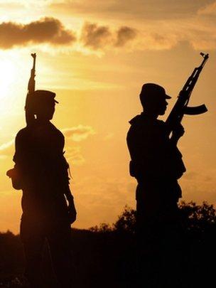 Sri Lankan army soldiers