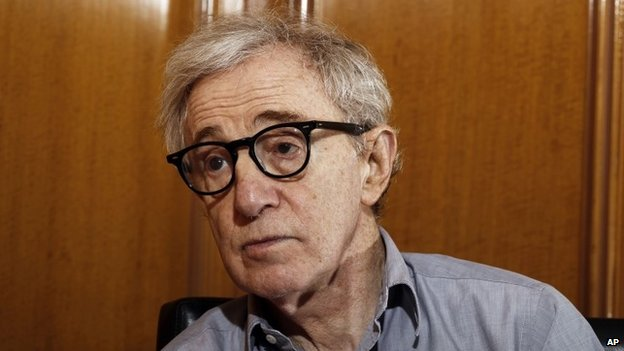 "Woody Allen, director of the film, ""Midnight in Paris,"" is photographed during an interview in Beverly Hills, California 29 December 2011"