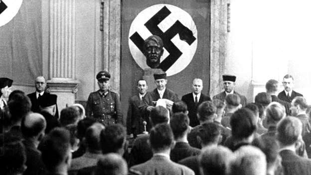 verdict read out against those accused of trying to assassinate Hitler. Image from http://www.bbc.co.uk/news/magazine-26047614