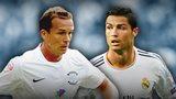 Kevin Davies and Cristiano Ronaldo