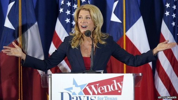 Wendy Davis announces her candidacy for governor of Texas on October 3, 2013.